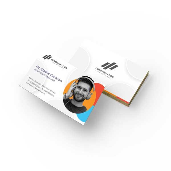 طرح لایه باز کارت ویزیت شخصی کد 2