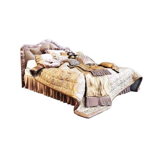دانلود رایگان آبجکت تخت خواب دو نفره سلطنتی ۳dmax