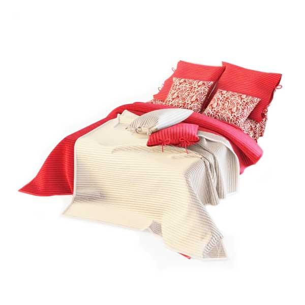 دانلود رایگان آبجکت تخت خواب دو نفره ۳dmax کد 15