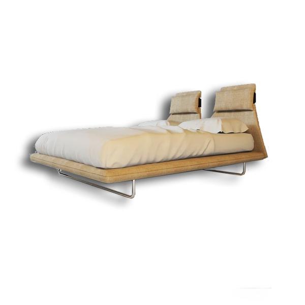 دانلود رایگان آبجکت تخت خواب مدرن دو نفره ۳dmax