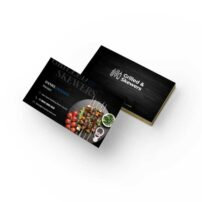 طرح لایه باز کارت ویزیت رستوران کد 6
