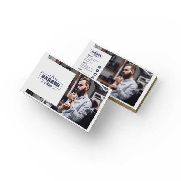 طرح لایه باز کارت ویزیت آرایشگاه مردانه کد 8