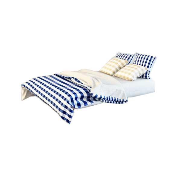 دانلود رایگان آبجکت تخت خواب دو نفره ۳dmax ساده کد ۱۸