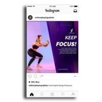 طرح لایه باز پست اینستاگرام با موضوع ورزش زنان