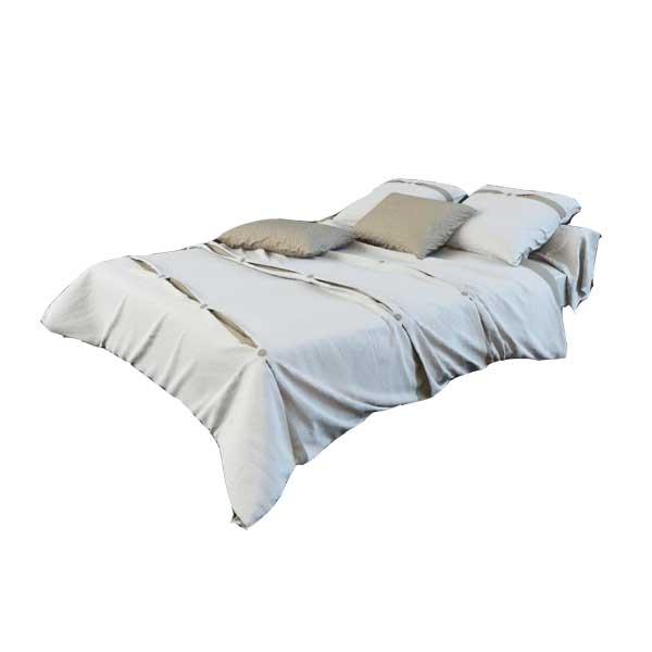 دانلود رایگان آبجکت تخت خواب دو نفره ۳dmax کد 23