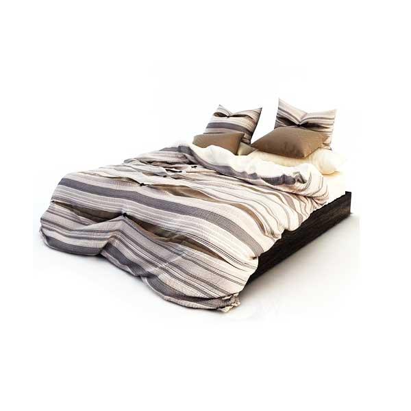 دانلود رایگان آبجکت تخت خواب دو نفره ۳dmax کد 30