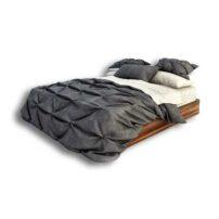 دانلود رایگان آبجکت تخت خواب ۲ نفره ۳dmax زیرچوبی کد 36