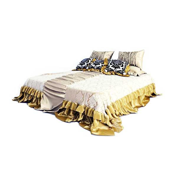 دانلود رایگان آبجکت تخت خواب ۲ نفره ۳dmax کد 44