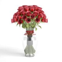 free 3d rose boquet model no 31