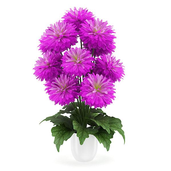 purple flower 3d model 20