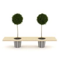 آبجکت سه بعدی درخت وصندلی تری دی