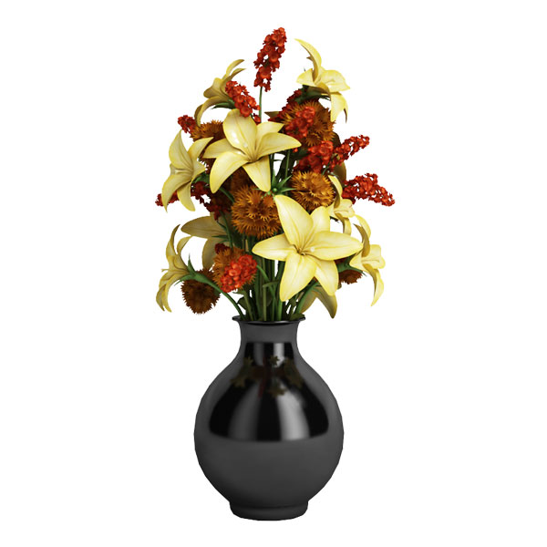 free boquet 3d model flower