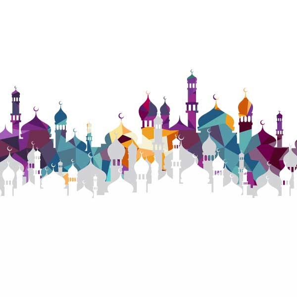 دانلود وکتور مسجد برای ماه رمضان کد 1